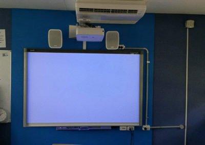 SafeNSound Electrical set up for digital screen and speaker